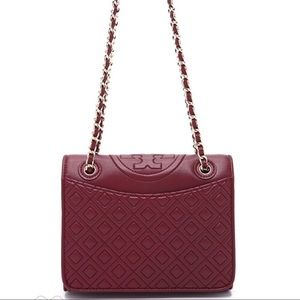 Authentic Tory Burch Fleming medium bag, red agate